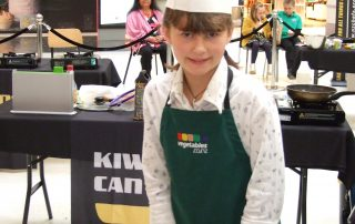 Lola at the Kiwi Kids Can Cook Finals